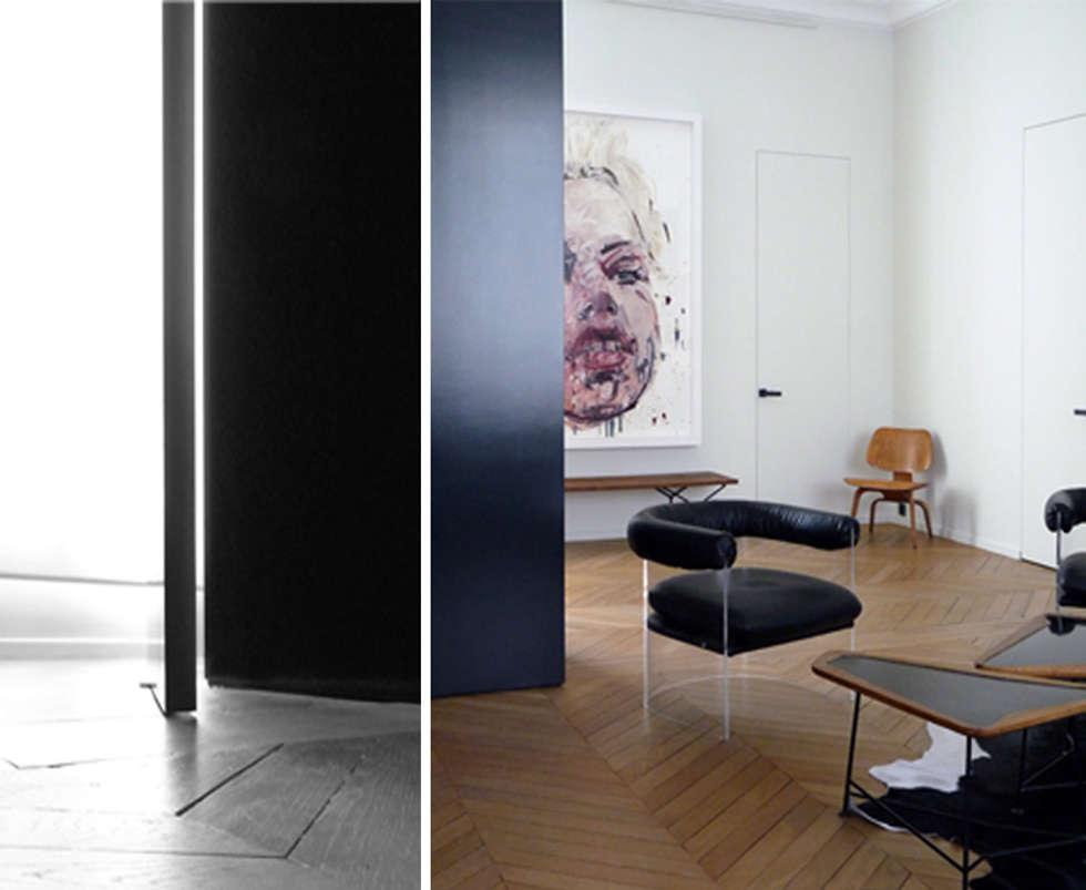 PARIS  GEORGES VILLE: Couloir et hall d'entrée de style  par KTL Interiors  by Kareen Trager-Lewis