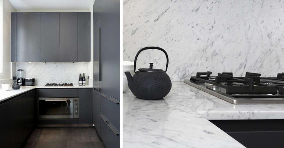 PARIS  GEORGES VILLE: Cuisine de style de style Minimaliste par KTL Interiors  by Kareen Trager-Lewis