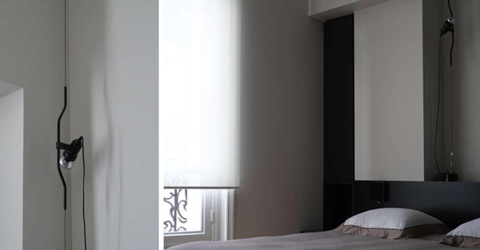 PARIS  GEORGES VILLE: Chambre de style de style Minimaliste par KTL Interiors  by Kareen Trager-Lewis