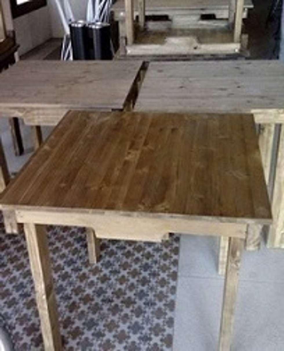 mesas con palets restaurante bodegas de estilo rstico de reciclart