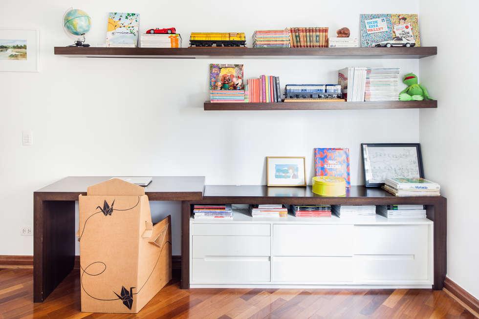 mmagalhães estúdio_Apartamento Parque: Quartos  por mmagalhães estúdio