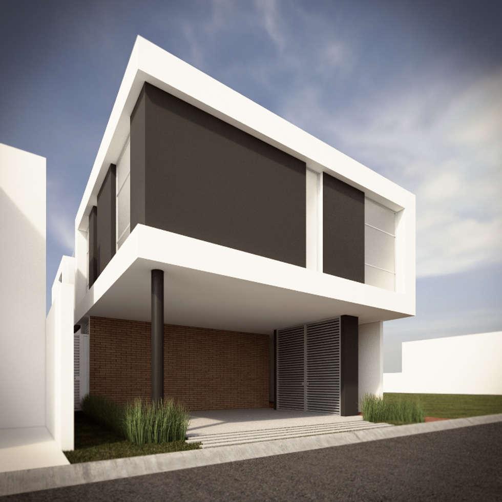 fachada principal opcin a casas de estilo minimalista por rtstudio - Casas Minimalistas