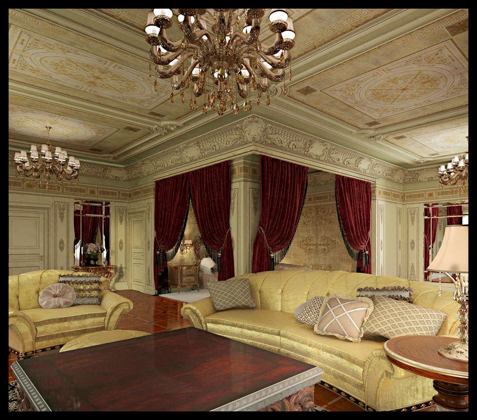 Мужская спальня: Спальни в . Автор – Defacto studio