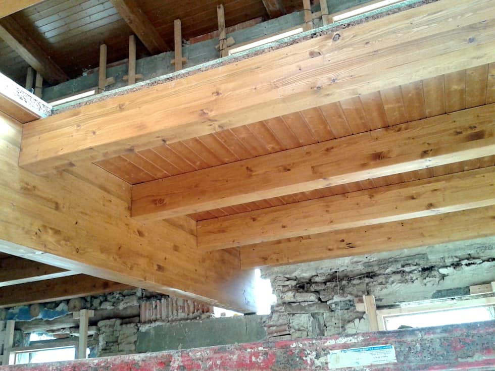 Fotos de decoraci n y dise o de interiores homify - Estructura madera laminada ...
