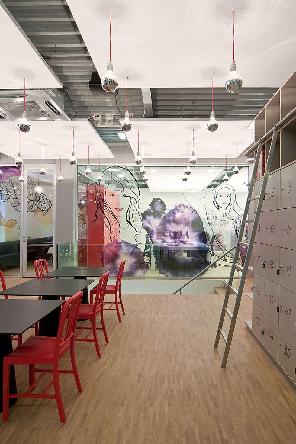 Hoofdkantoor Ami Kappers:  Kantoorgebouwen door ontwerpplek, interieurarchitectuur
