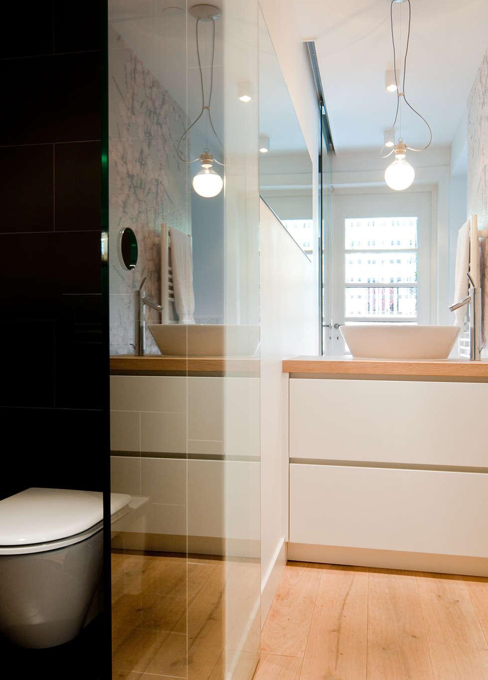 Woonhuis Utrecht: moderne Badkamer door ontwerpplek, interieurarchitectuur