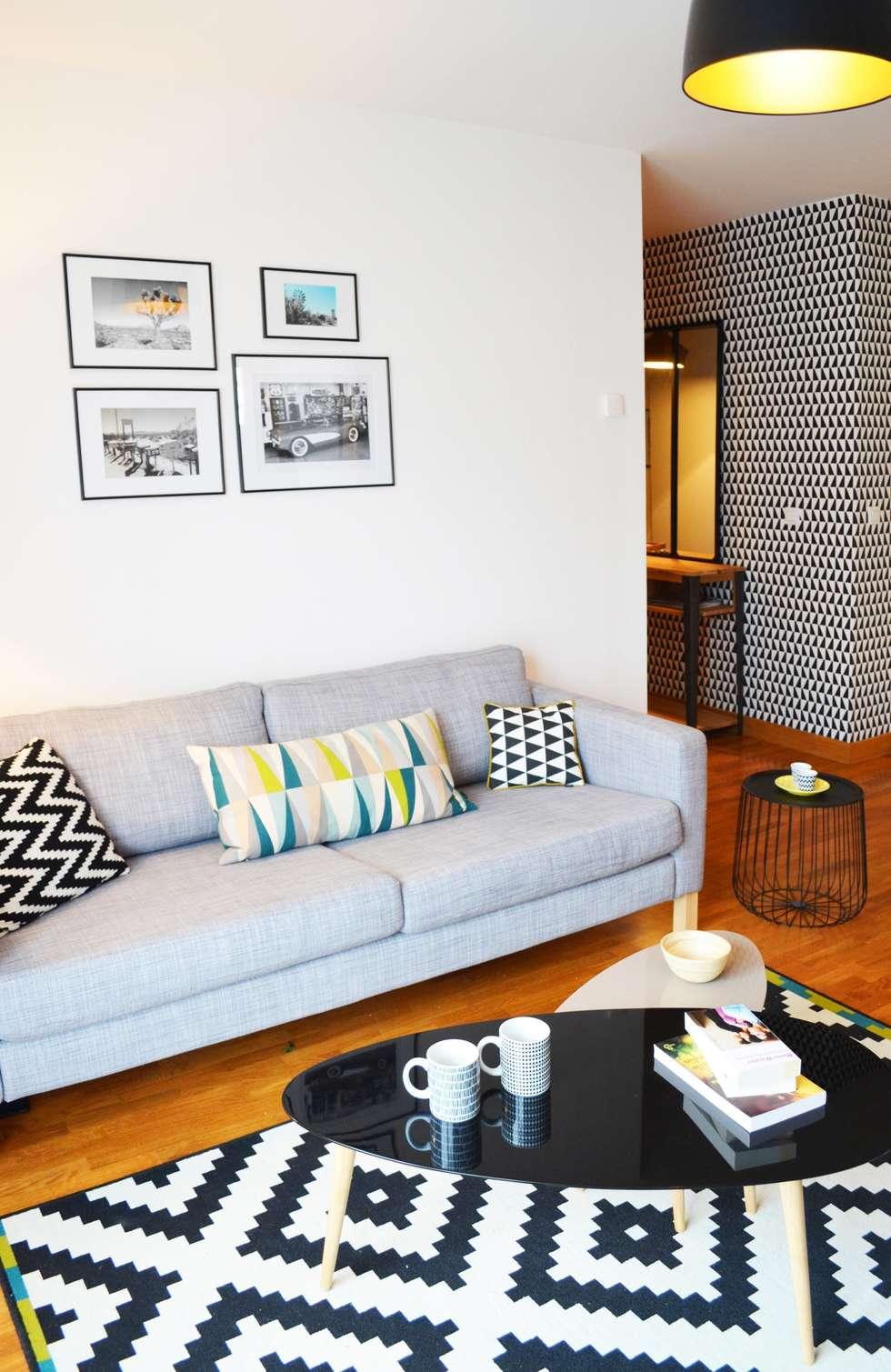 Appartement 60m² - Villejuif: Salon de style de style Scandinave par Sandrine Carré