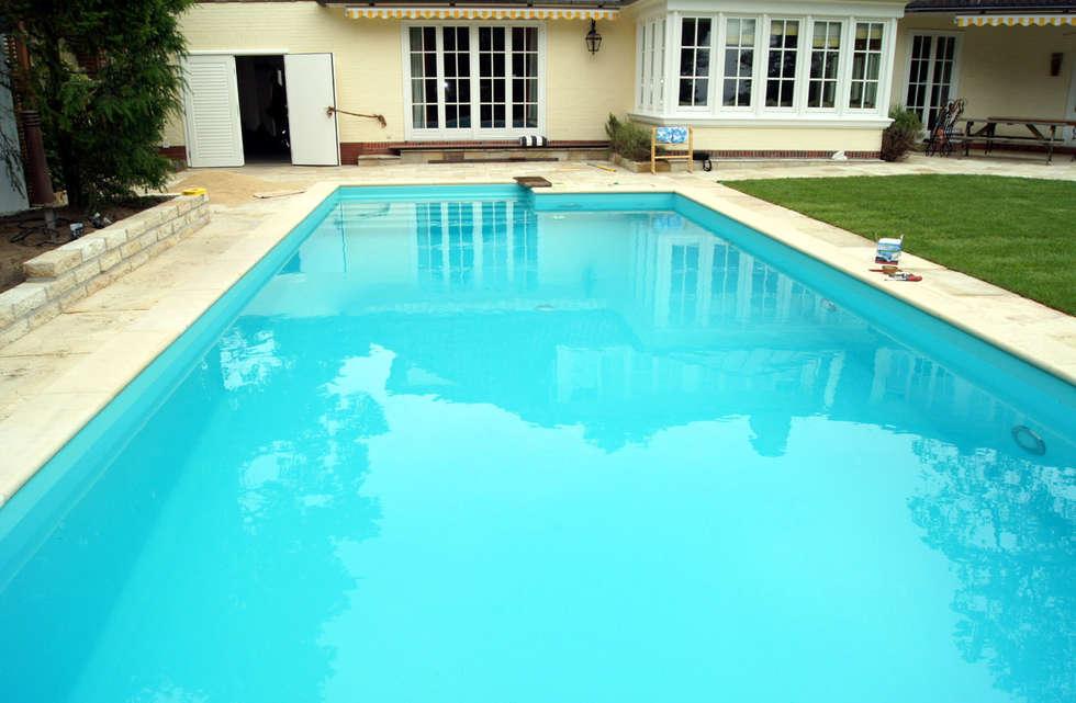 Piscina color verde caribe renolit alkorplan3000 piscinas Piscinas decoradas