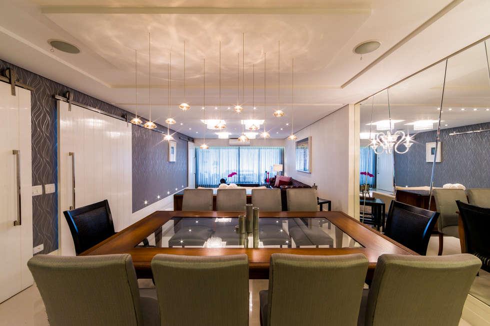 Sala de Jantar: Salas de jantar clássicas por Enzo Sobocinski Arquitetura & Interiores