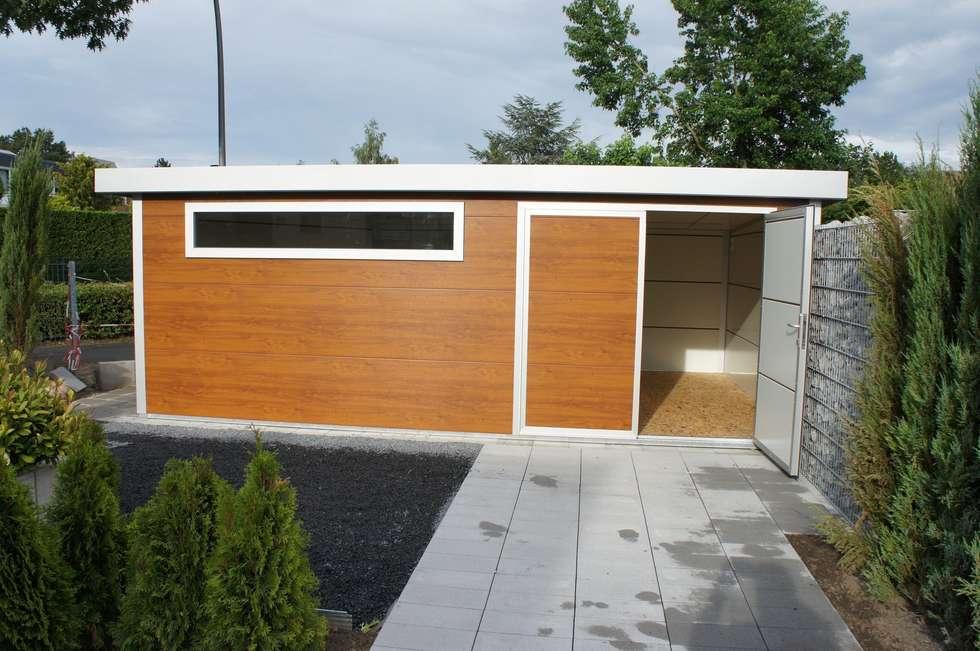 moderne garage & schuppen bilder: exklusives gartenhaus in, Garten ideen