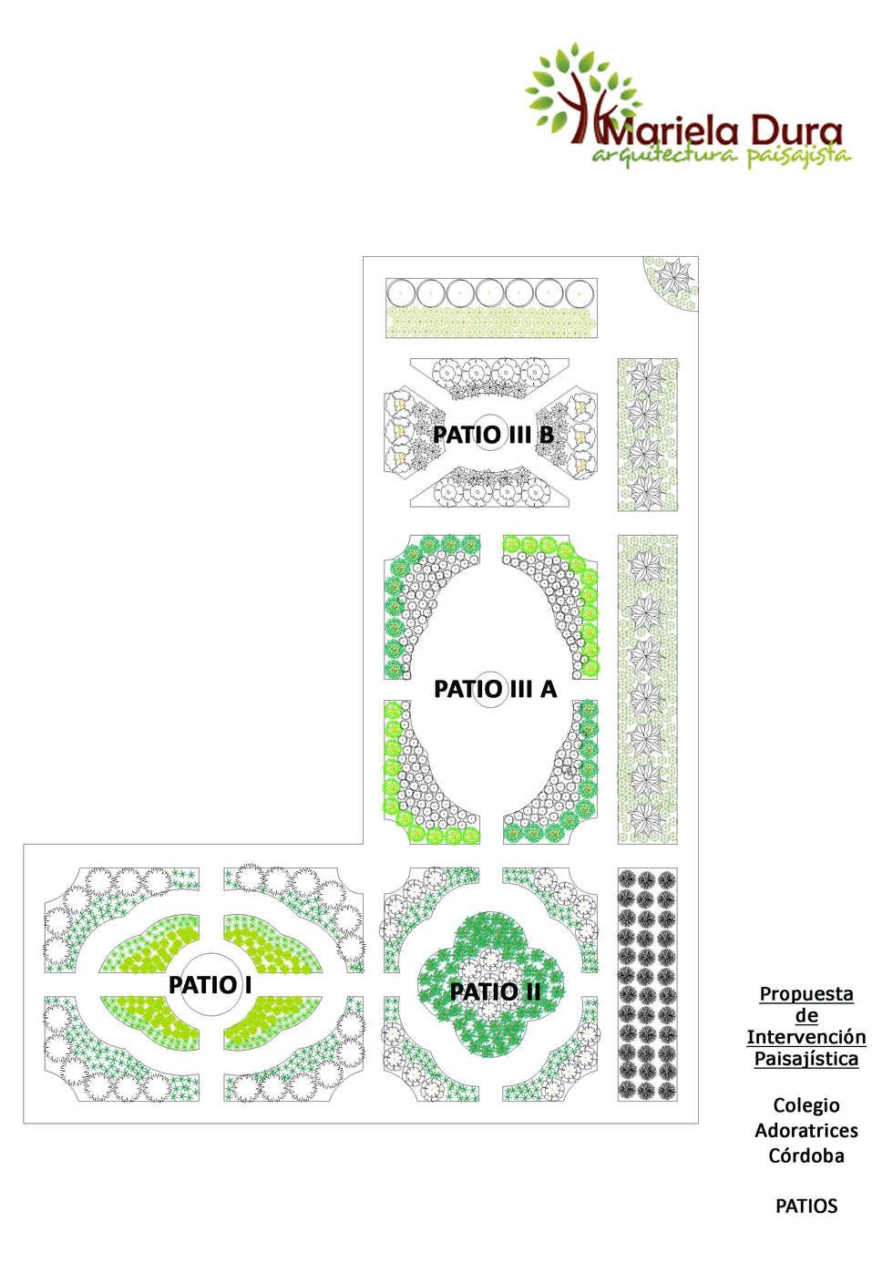 PROPUESTA DE INTERVENCIÓN PAISAJISTA - Esquema General del Lugar : Jardines de estilo clásico por MARIELA DURA ARQUITECTURA PAISAJISTA