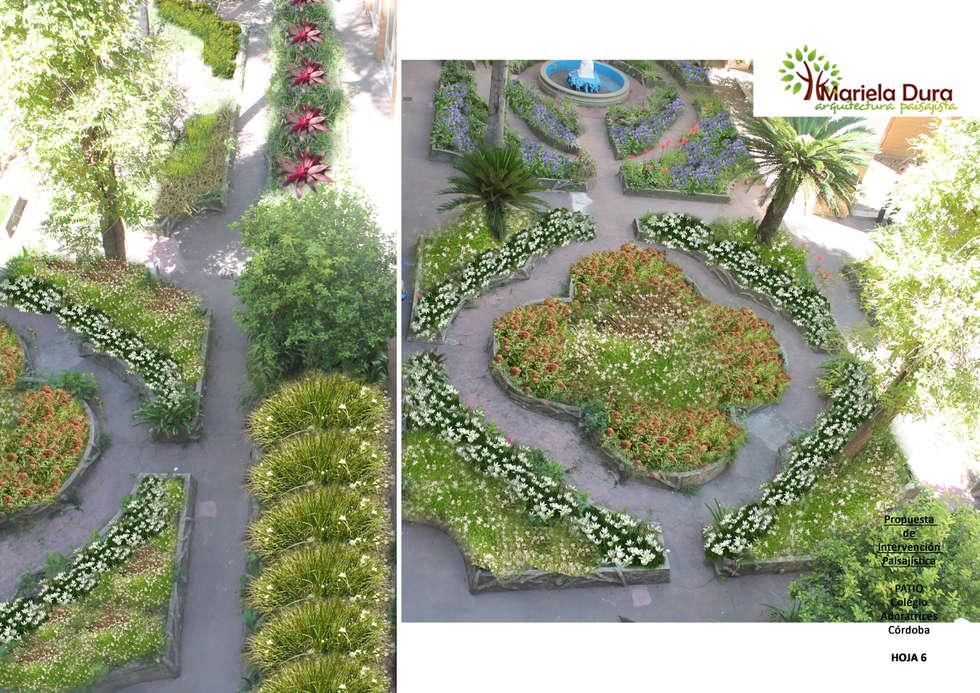 HOJA 6: Jardines de estilo clásico por MARIELA DURA ARQUITECTURA PAISAJISTA