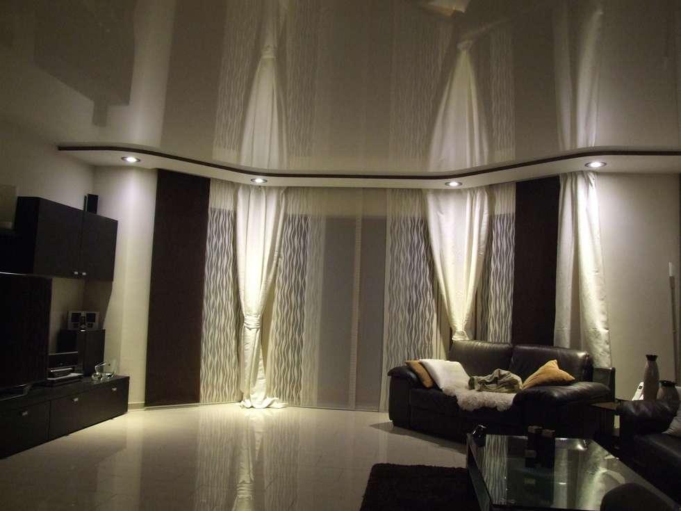 Kombination spanndecke mit gkb konstruktionen : moderne wohnzimmer ...