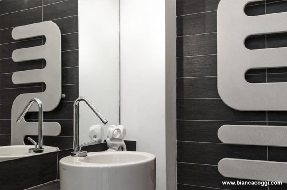 Bagno in Open space: Bagno in stile in stile Moderno di Bianca Coggi Architetto