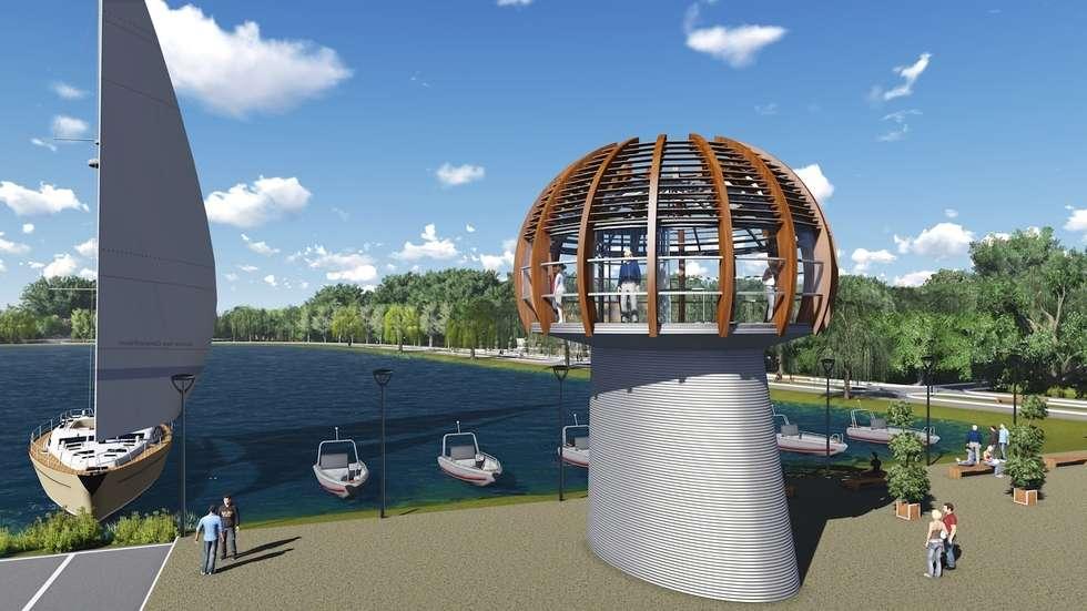 Torre panoramica: Centri commerciali in stile  di M A+D Menzo Architettura+Design