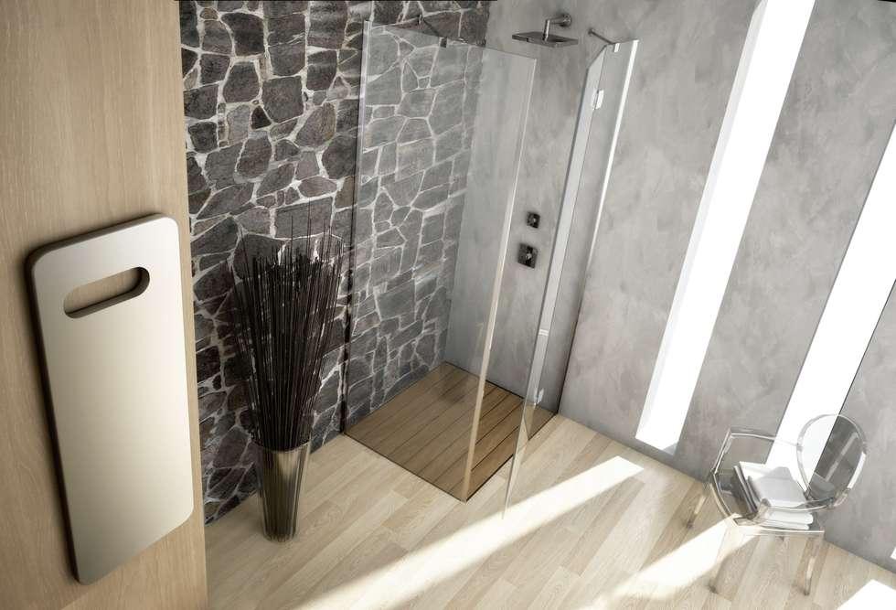 Box doccia design: Bagno in stile in stile Moderno di SILVERPLAT