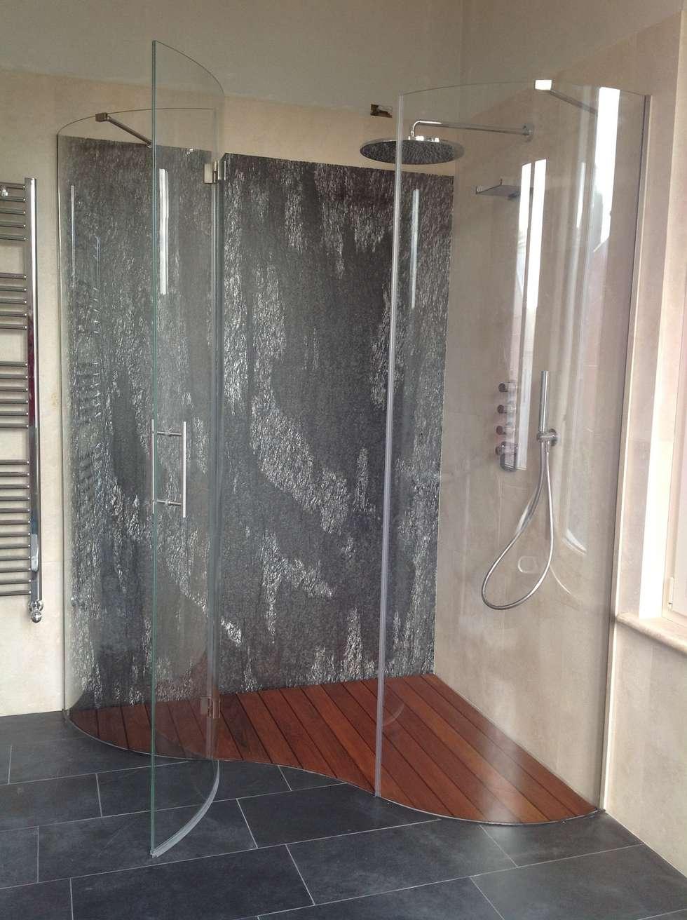 Box doccia linea Onde: Bagno in stile in stile Moderno di SILVERPLAT