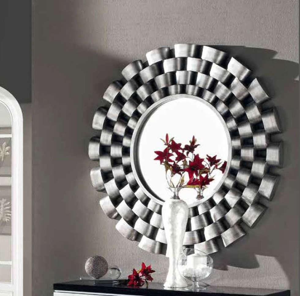 Espejo redondo vulcano hogar de estilo de decoracion for Espejos redondos para decoracion