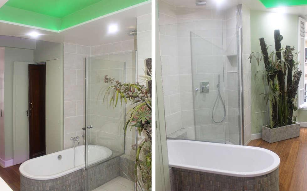 salle de bain: Cuisine de style de style Moderne par les bains et les cuisines d'Alexandre