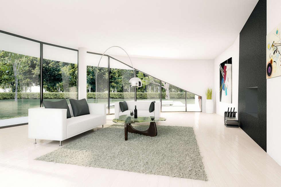 Rendering interior: Soggiorno in stile in stile Moderno di AB photo and graphics