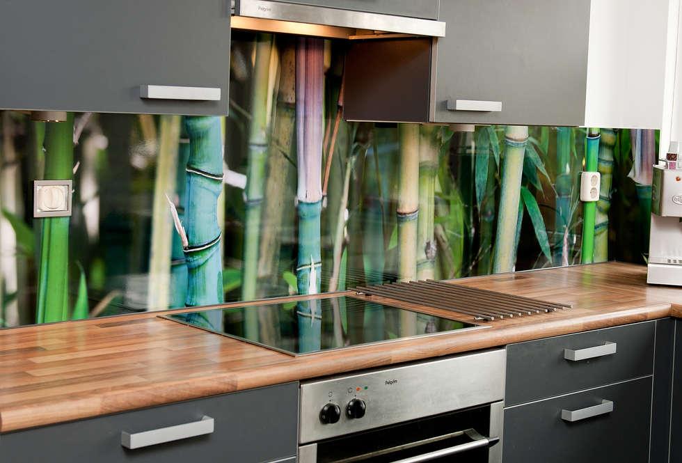 Foto's van een moderne keuken: 'bamboo' keuken achterwand op pimp ...