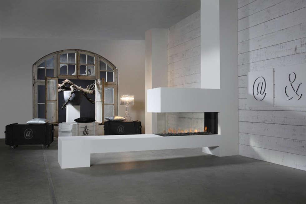 Kominek gazowy Kwline Aspect RD L: styl , w kategorii Salon zaprojektowany przez TAPIS.PL