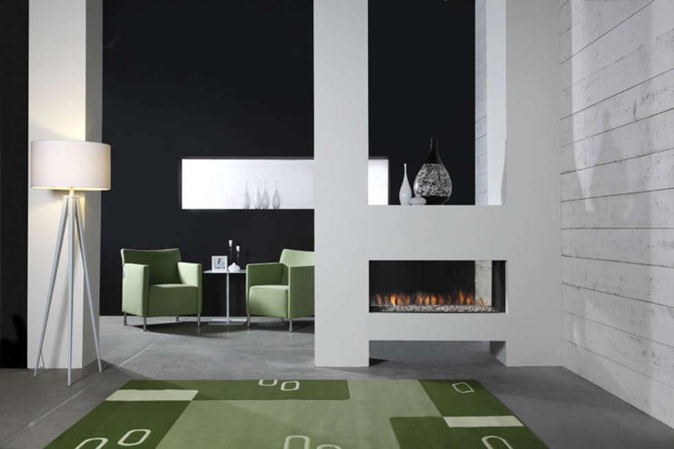 Kominek gazowy Kwline Aspect ST L: styl , w kategorii Salon zaprojektowany przez TAPIS.PL