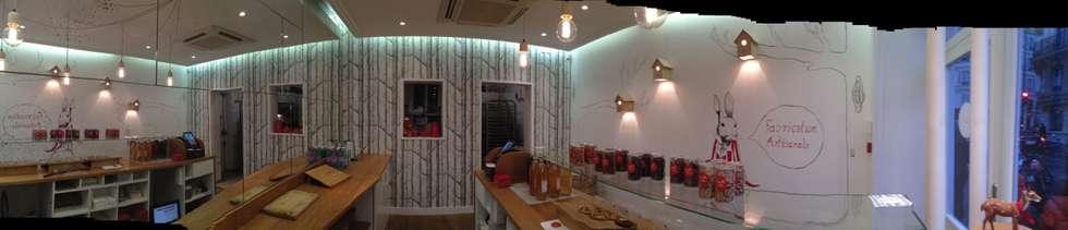 Scoop Me A Cookie - 72 rue Legendre ( 75017): Restaurants de style  par Agathe Convert, Création d 'Interieurs