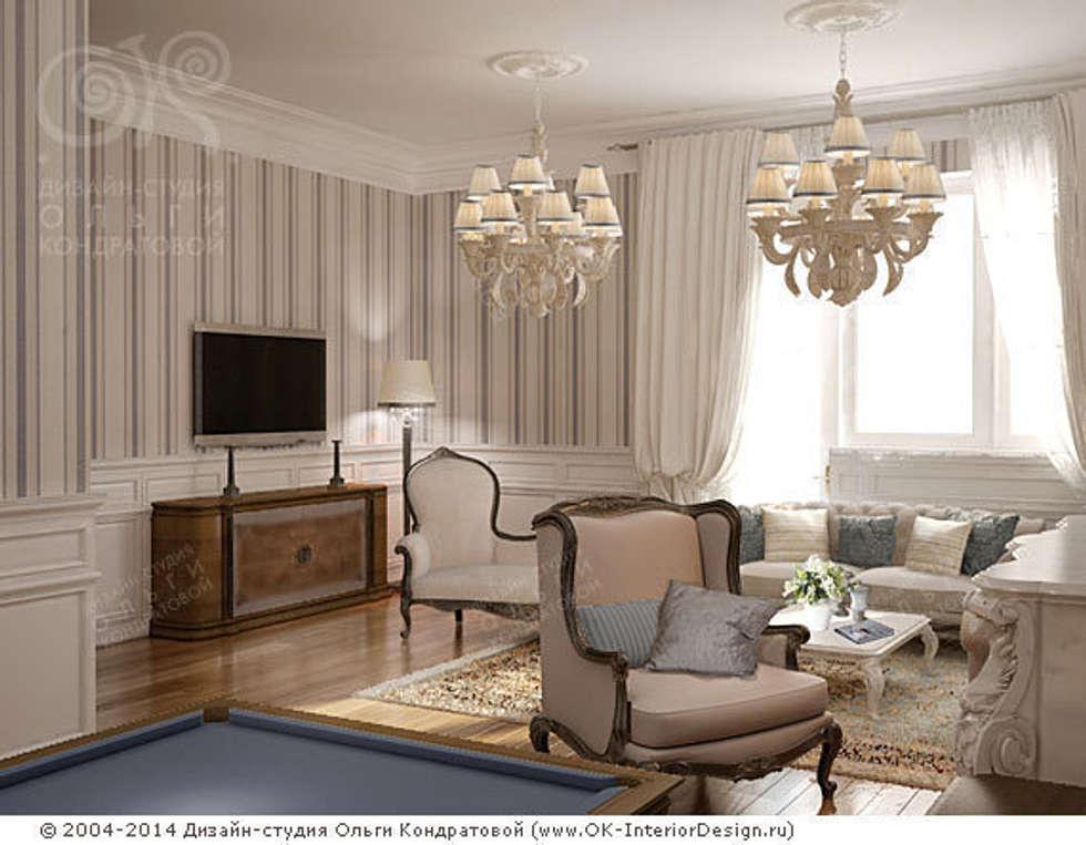 Гостиная: Гостиная в . Автор – Дизайн студия Ольги Кондратовой