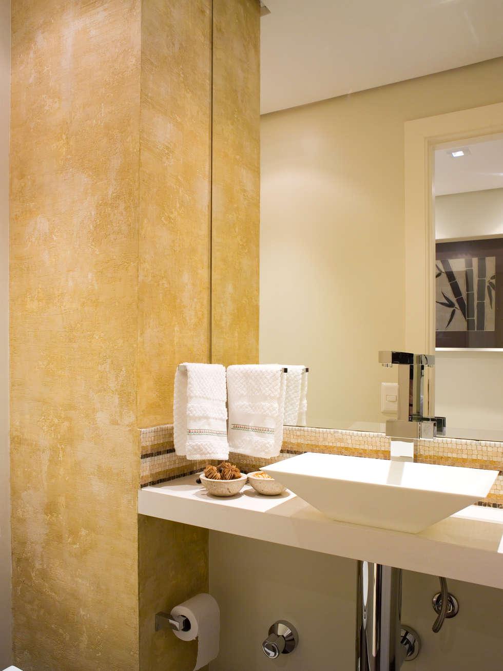 lavabo: Banheiros clássicos por Flávia Brandão - arquitetura, interiores e obras