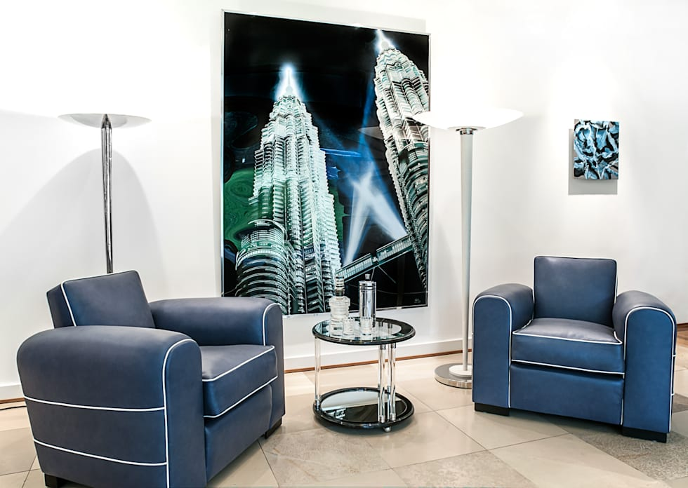 Einrichtung villa heusgen showroom minimalistische wohnzimmer von