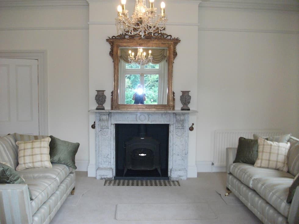 Refurbished Hearth: Classic Living Room By Pat Staples Interiors