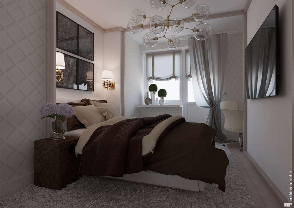Спальня родителей: Спальни в . Автор – Architectured - мастерская Маргариты Рассказовой