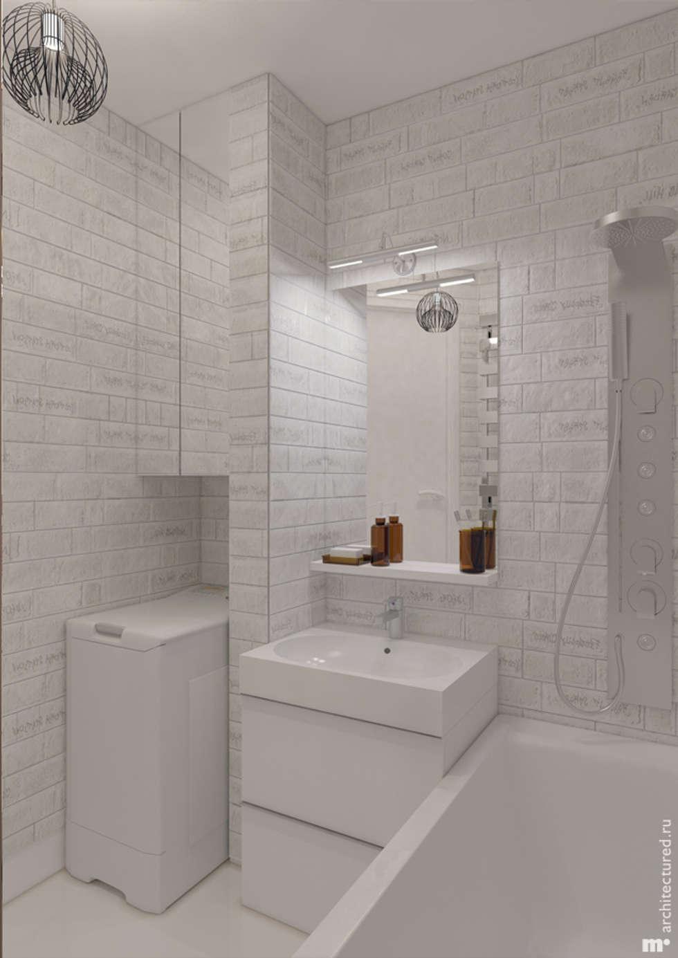 Ванная комната: Ванные комнаты в . Автор – Architectured - мастерская Маргариты Рассказовой