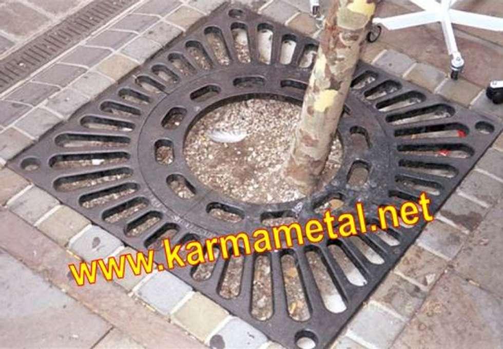 KARMA METAL – KARMA METAL - Ağaç Altı Dibi Izgarası: endüstriyel tarz tarz Kış Bahçesi