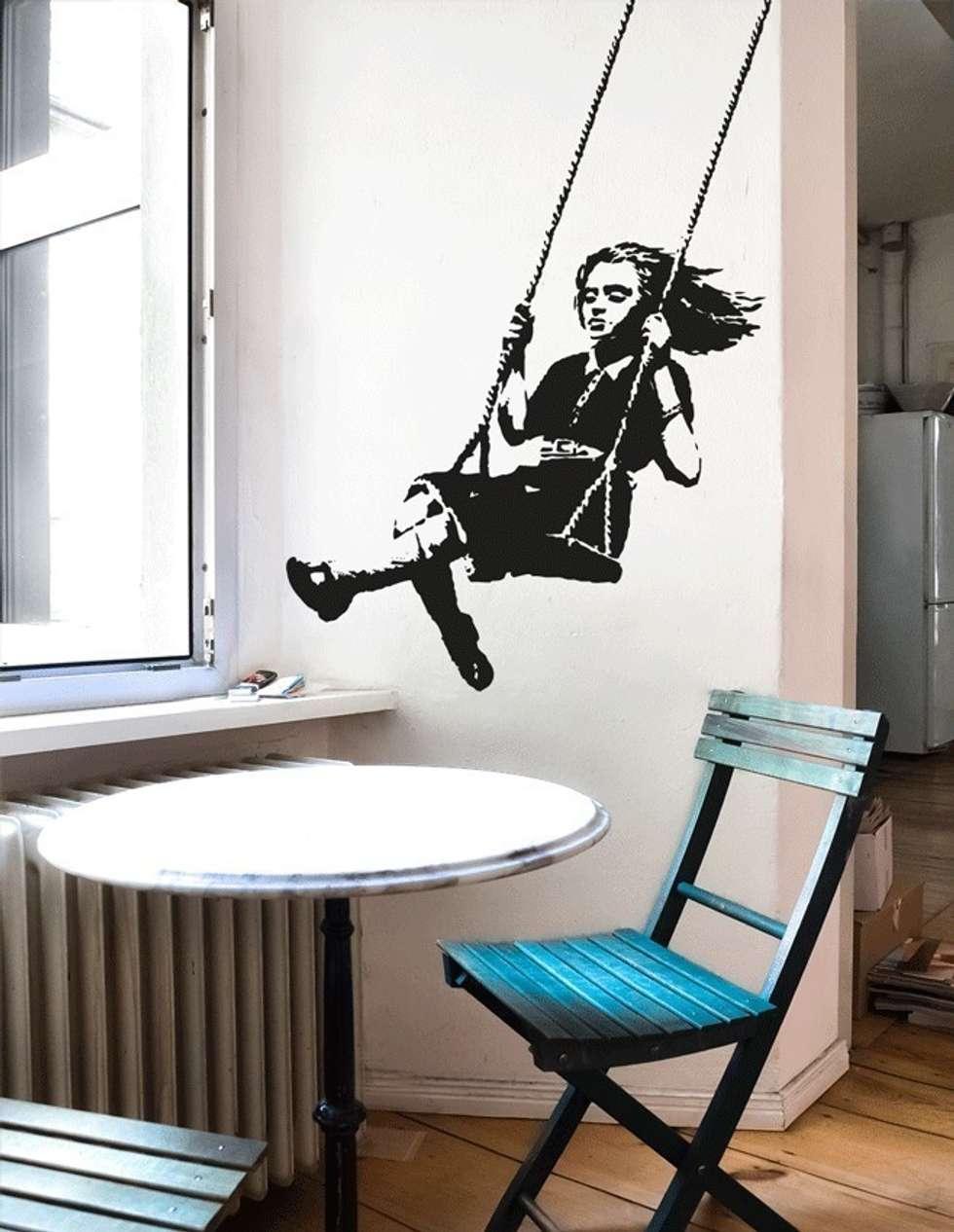 Verschiedene Wandtattoo Berlin Referenz Von Banksy Girl On A Swing Streetart Wandtattoo: