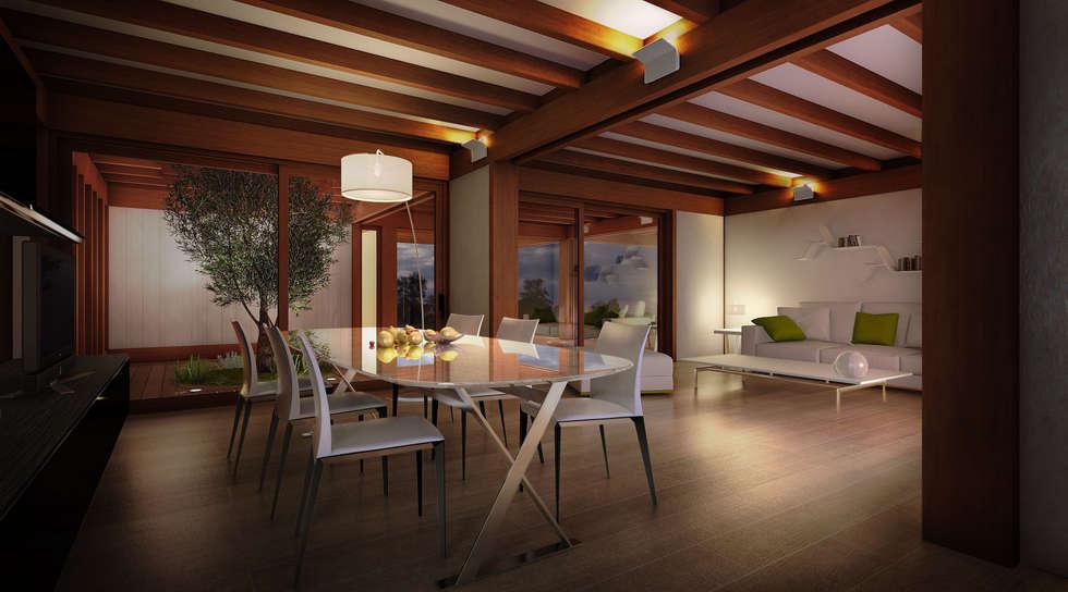 Salone Stile Moderno Con Parquet E Vetrate Internal Design : Idee arredamento casa interior design homify