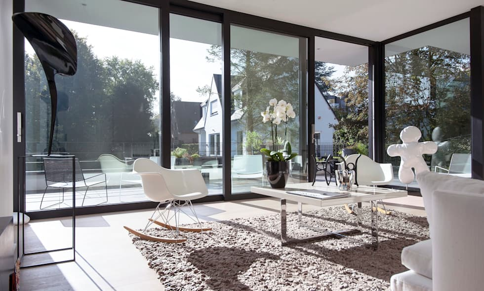 SALON DESIGN: Salon de style de style Minimaliste par ISABELLE LECLERCQ DESIGN