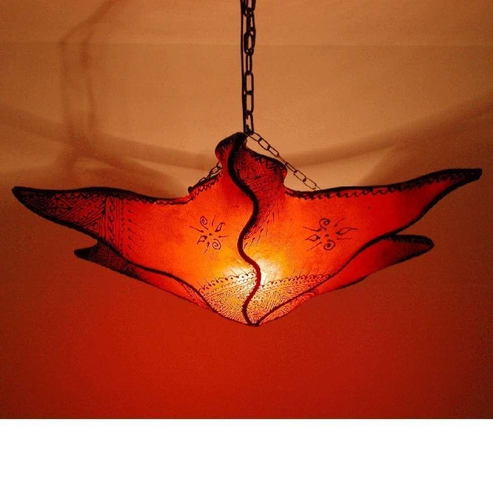 Lampa sufitowa henna NEJMA pomarańczowa: styl , w kategorii Miejsca na imprezy zaprojektowany przez DomRustykalny.pl