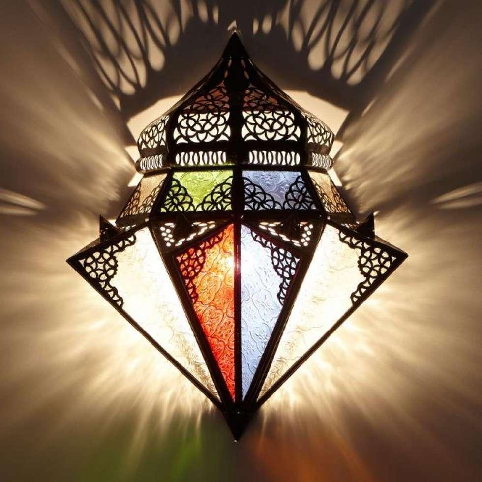 Orientalna lampa ścienna JAWHAR: styl , w kategorii Miejsca na imprezy zaprojektowany przez DomRustykalny.pl