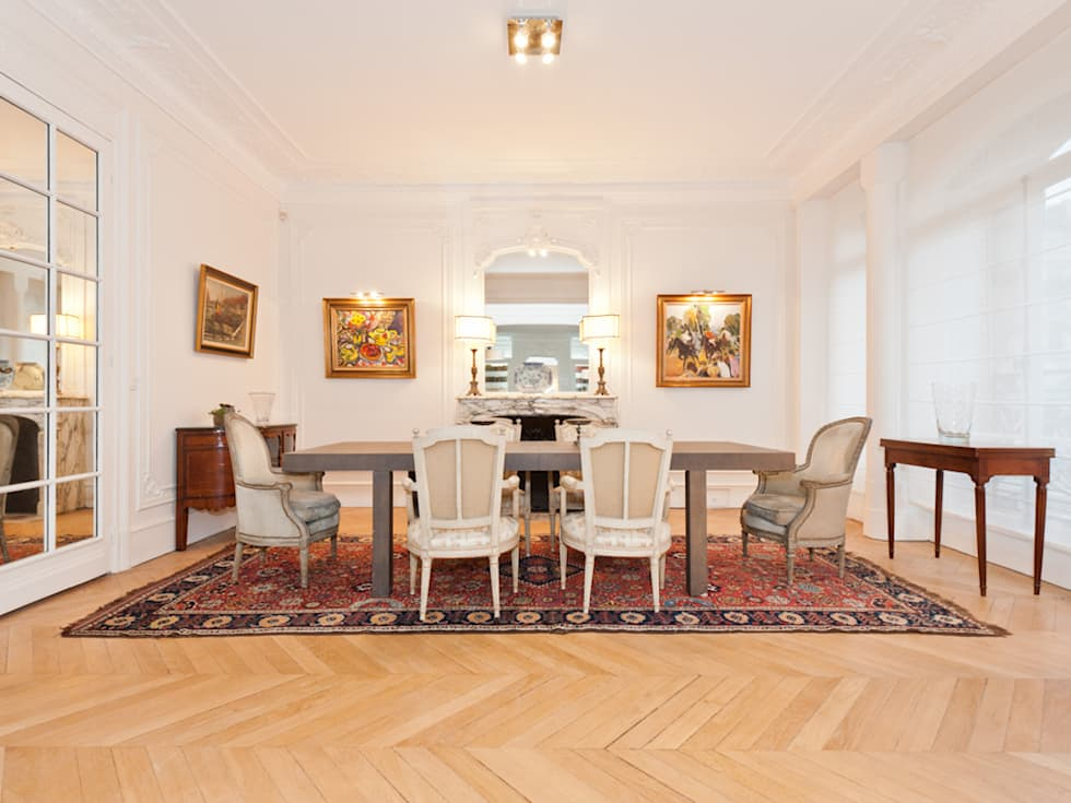 dcoration dun appartement haussmannien salle manger de style de style classique par