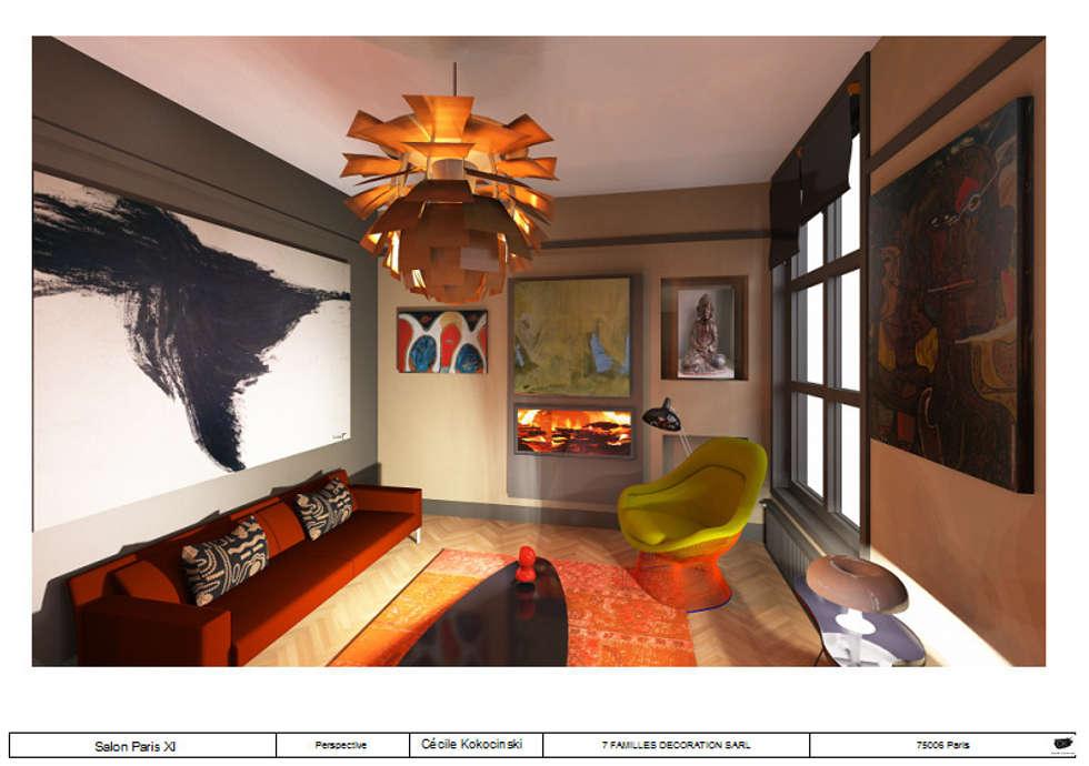 Salon design 50: Salon de style de style Moderne par cecile kokocinski