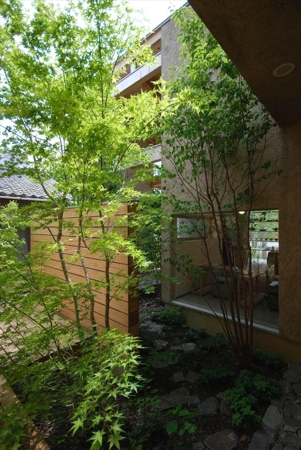 福釜の家: 神谷建築スタジオが手掛けた庭です。