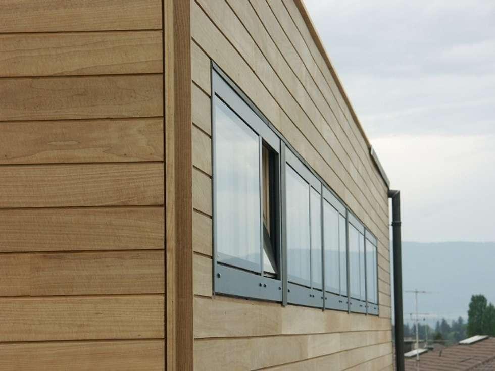 Vue arrière: Maisons de style de style Moderne par ELEMENT 9