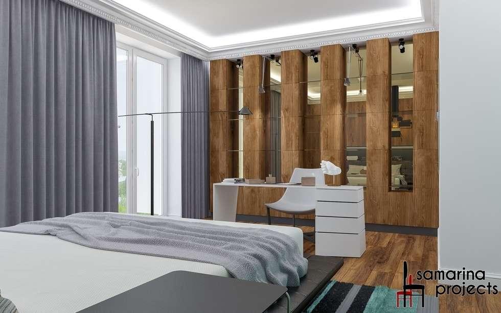 В стиле контемпорари: роскошная простота: Спальни в . Автор – Samarina projects
