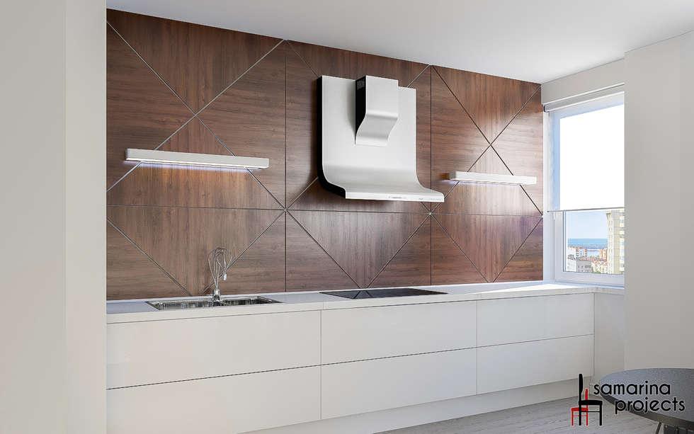 """Дизайн квартиры """"Уютная студенческая квартирка"""": Кухни в . Автор – Samarina projects"""