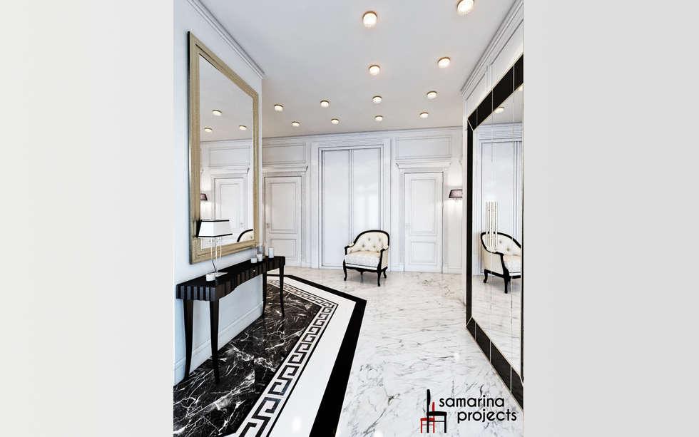 """Дизайн квартиры """"Невесомая красота"""" : Коридор и прихожая в . Автор – Samarina projects"""