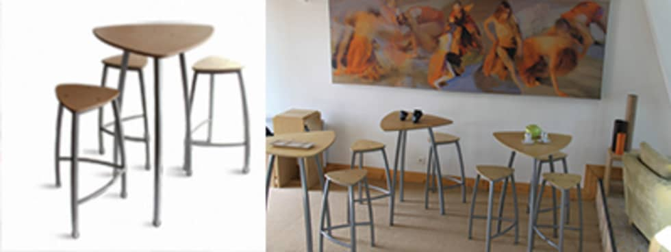 Ensembles tables tabourets Delta: Bars & clubs de style  par Arielle D Collection Maison