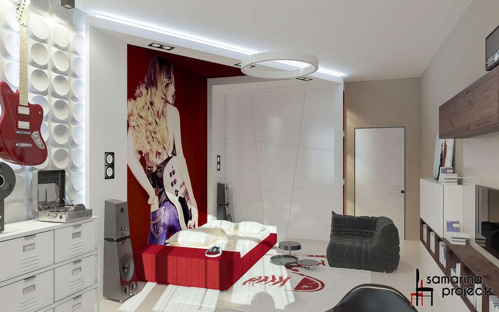 """Дизайн квартиры """"Гармония цвета"""": Детские комнаты в . Автор – Samarina projects"""