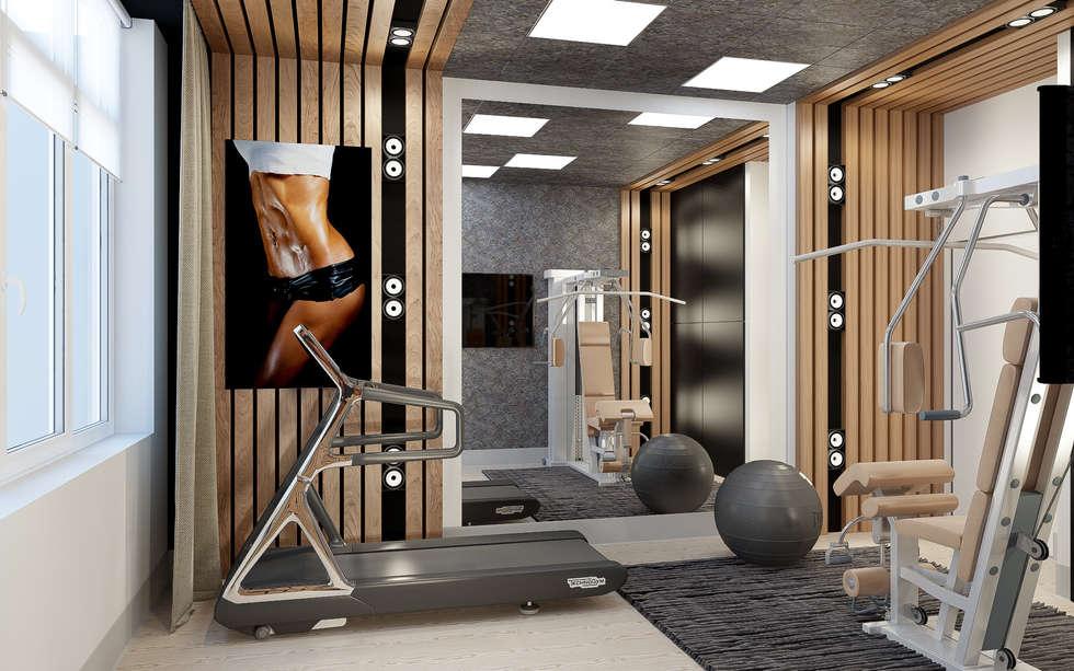 """Дизайн квартиры """"Гармония цвета"""": Тренажерные комнаты в . Автор – Samarina projects"""